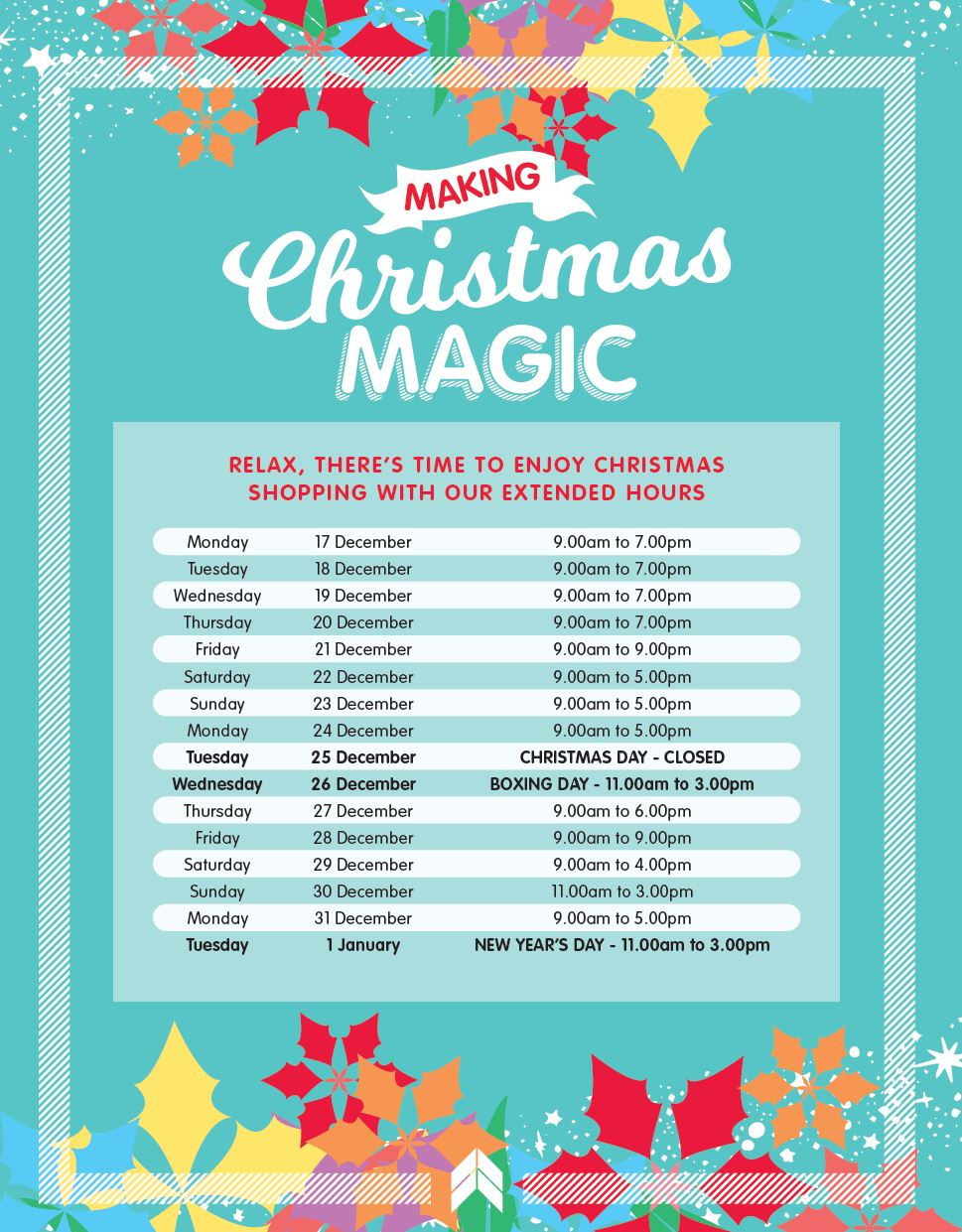 Lansell xmas trading hours